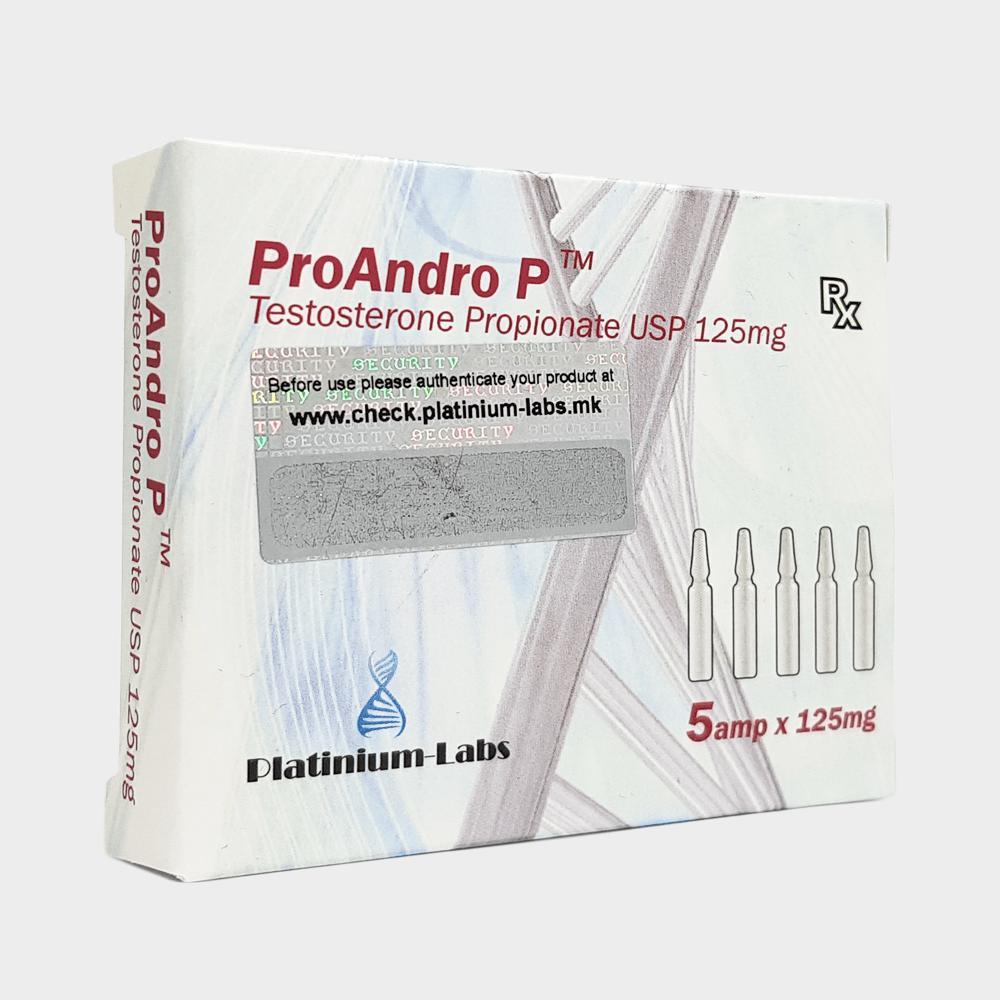 ProAndro P Platinium Labs (Testosterone Propionate) 125mg