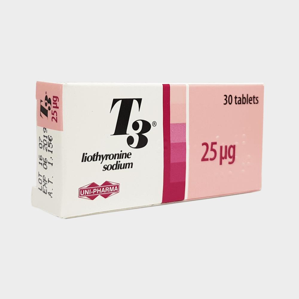 T3 Uni-Pharma (Cytomel / liothyronine sodium) 25ug